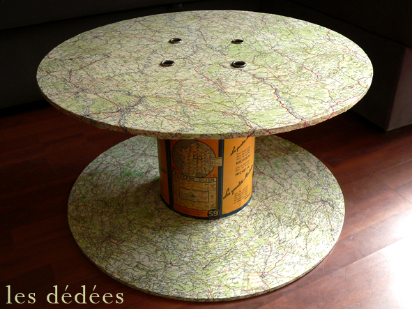 Les dedees vintage recup creations table basse une for Idee table basse recup
