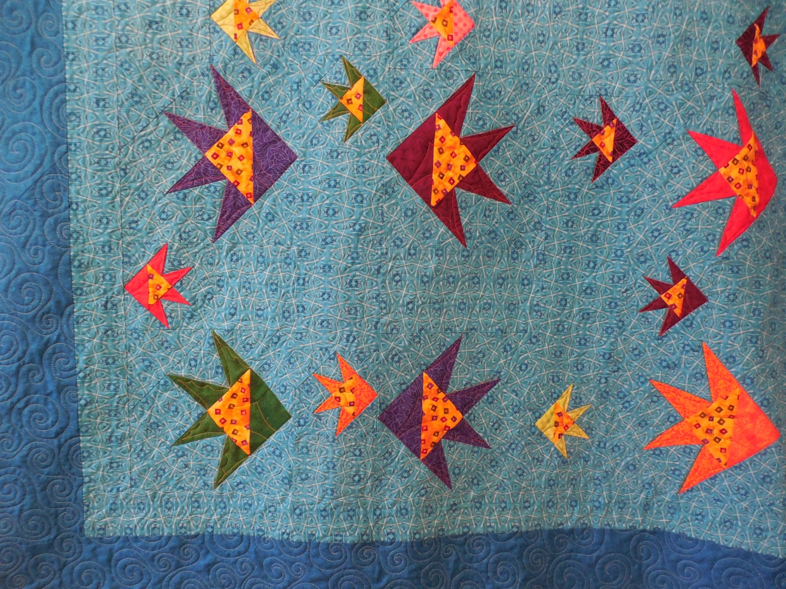 gallery wednesday sewing fish january fishies quilt