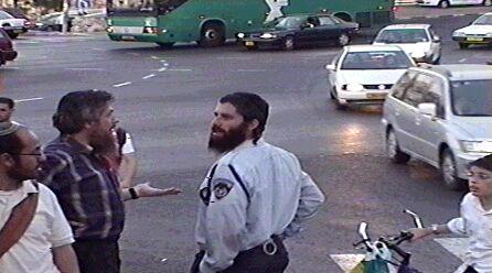 A policeman with peyos