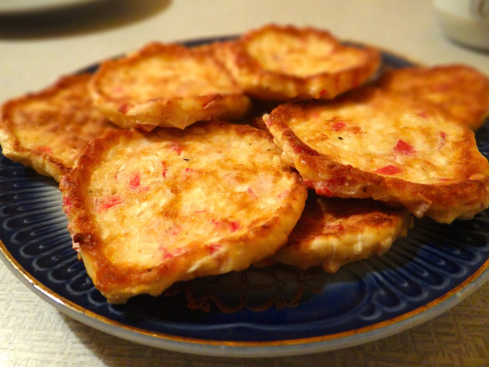 Оладьи из крабовых палочек с сыром рецепт