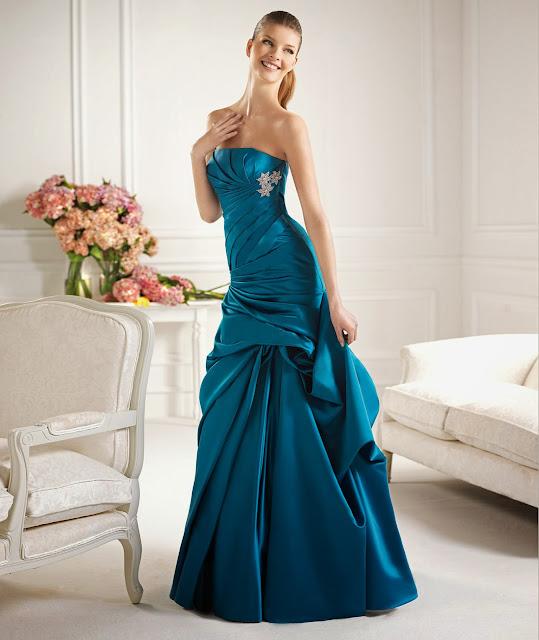 Amazing blue night dress