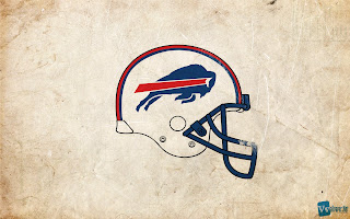 Buffalo Bills Helmet and Logo on Old Paper HD Desktop Wallpaper