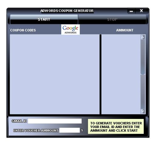 google adwords coupon generator 100 working free downloads no