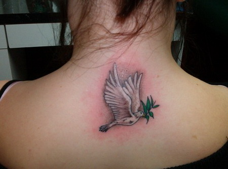 Dove bird tattoo - photo#13