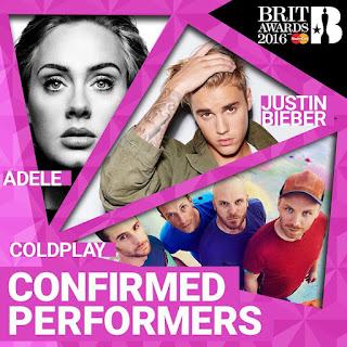 British Music Award 2016,adele,coldplay