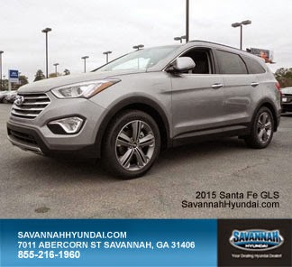2015 Hyundai Santa FE GLS, Savannnah GA, Savannah Hyundai New Car Specials