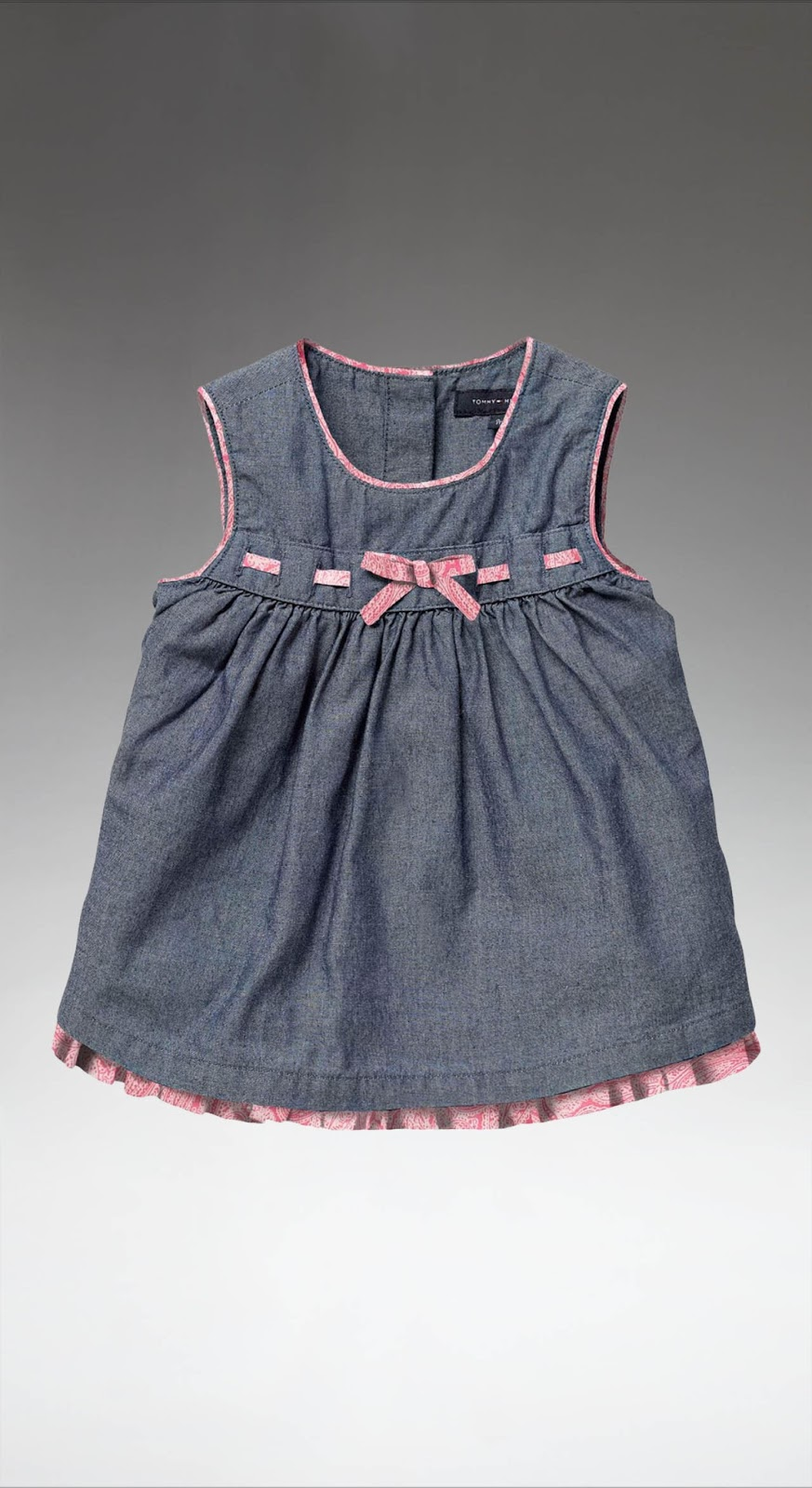 Purple Doughnuts Tommy Hilfiger Baby Girl Chambray Dress In 0 6
