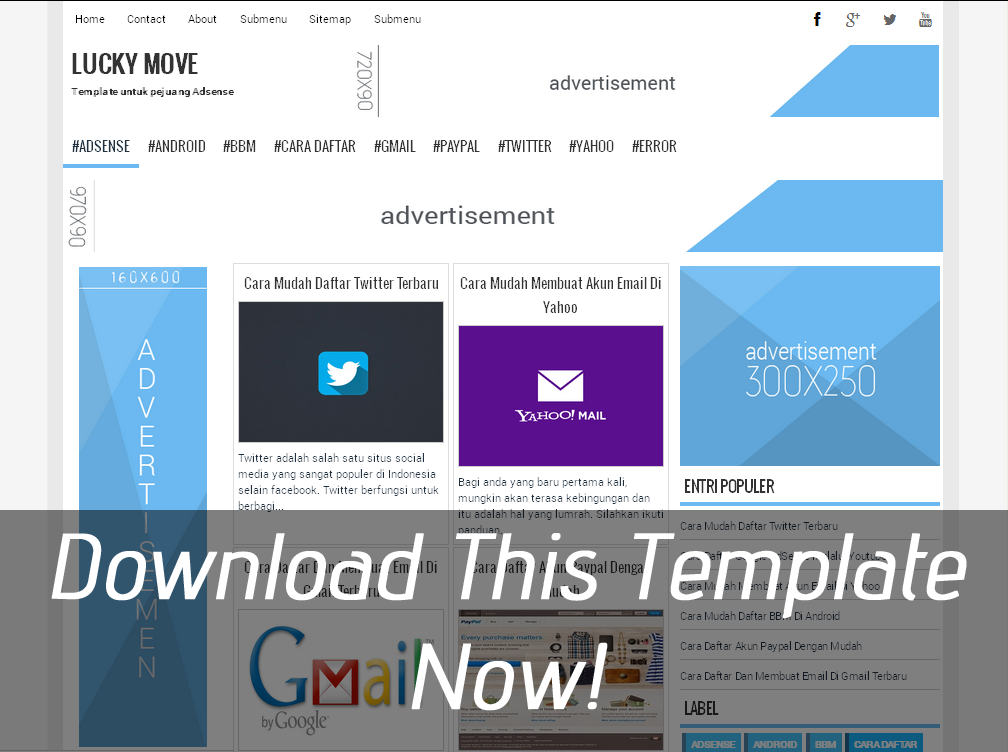 Download Lucky Move Responsive Blogger Template