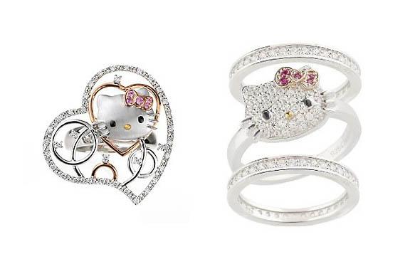 the addict hello kitty wedding rings so cutie ideas