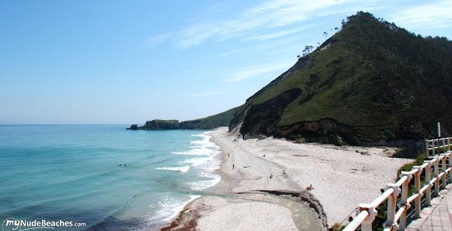 Nude beach San Antolín (Llanes, Asturias, Spain)