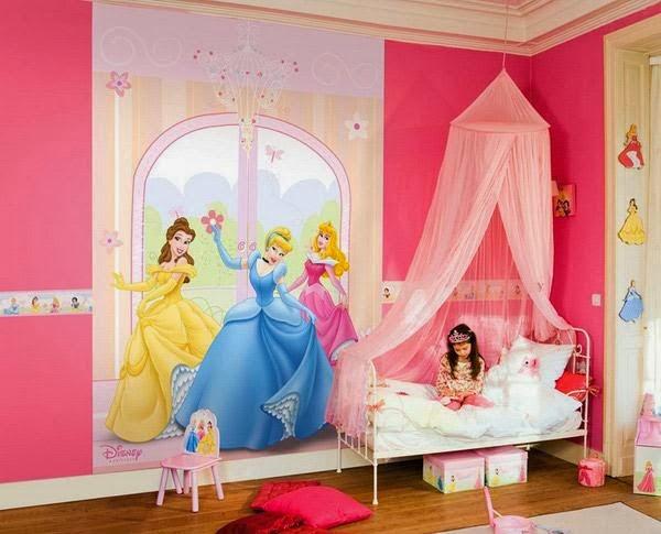 desain kamar tidur anak perempuan barbie