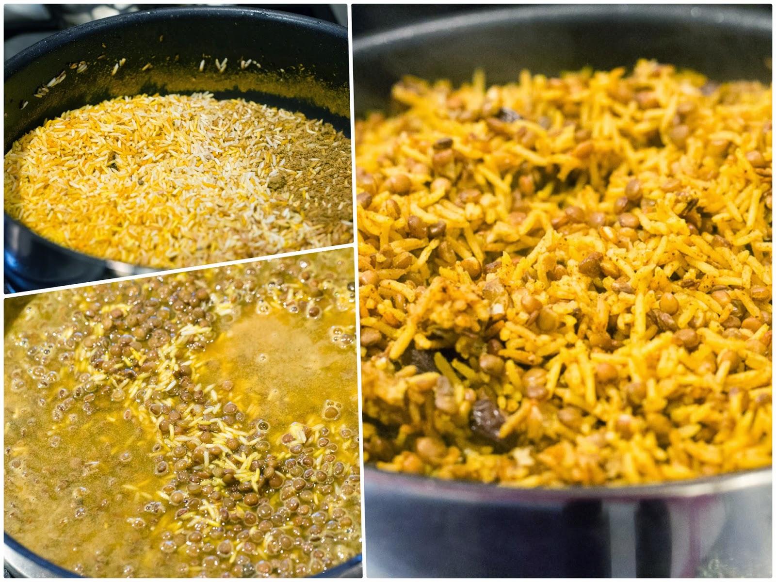 linssienja riisien keittäminen kuohkeaksi