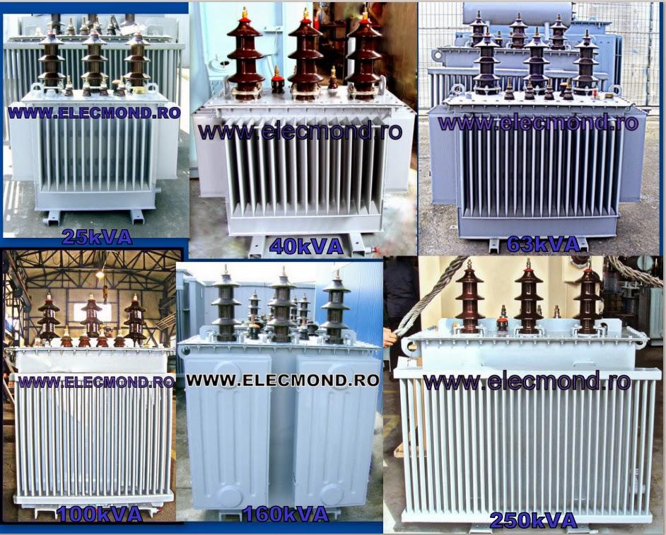Transformator 25kVA , transformator 40kVA , transformator 63kVA, transformator 100kVA , transformator 160kVA , transformator 250kVA , transformatoare