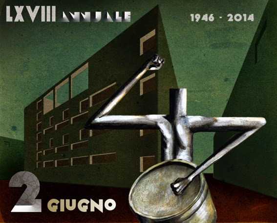 Terragni casa del fascio poster propaganda