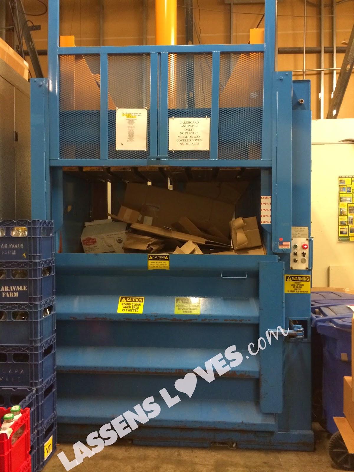 cardboard+recycling, cardboard+baler