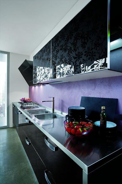 Cuisine design avec verre effet baroque for Cuisine baroque moderne