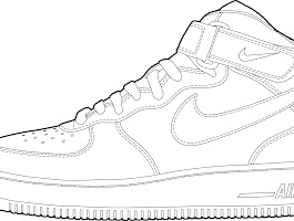Nike Air Force Coloring Pages