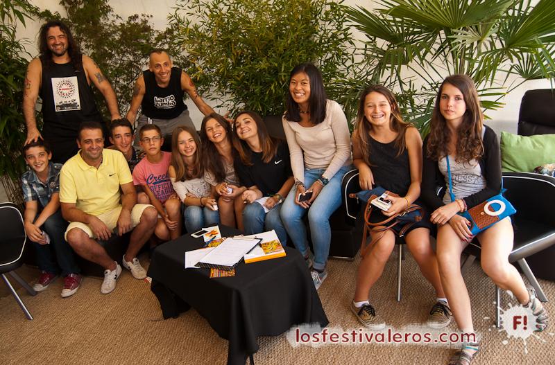 Che Sudaka y los alumnos del collège Jules Vallès de Portet sur Garonne