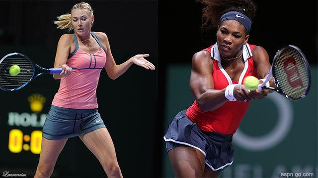 Petenis-Foto-Maria-Sharapova-dan-Serena-Williams