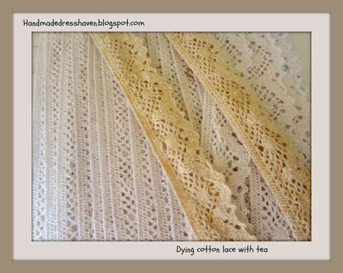 tea dying cotton lace