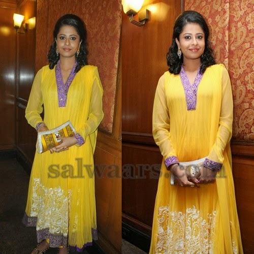 Anjana Menon Yellow Salwar Kameez