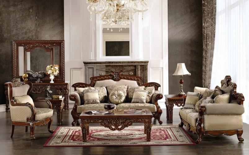 Antique VICTORIAN Living Room FURNITURE Wood Luxury Classic Design ...