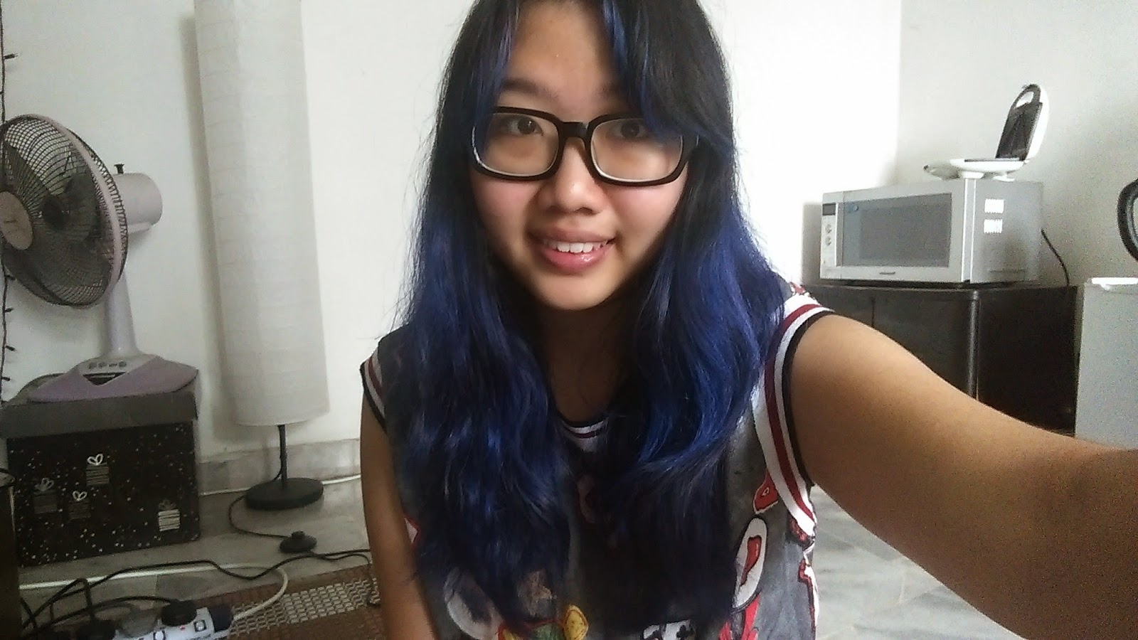Imperfect Me My Hair Journey With Manic Panic Shocking Blue