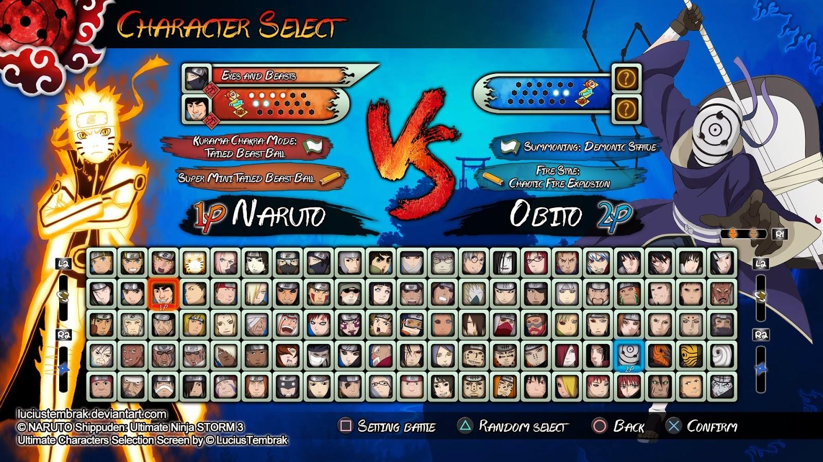 Tundhu Blog Trik Membuka Semua Karakter Game Naruto Shippuden Ultimate Ninja Storm 3 Full Burst Pc Ps3