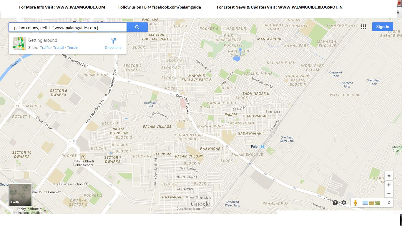 Palam Colony Delhi Map