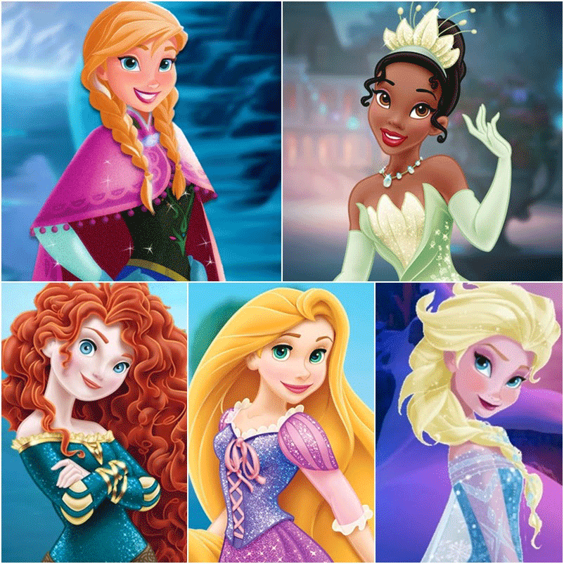 Modern disney princesses printable