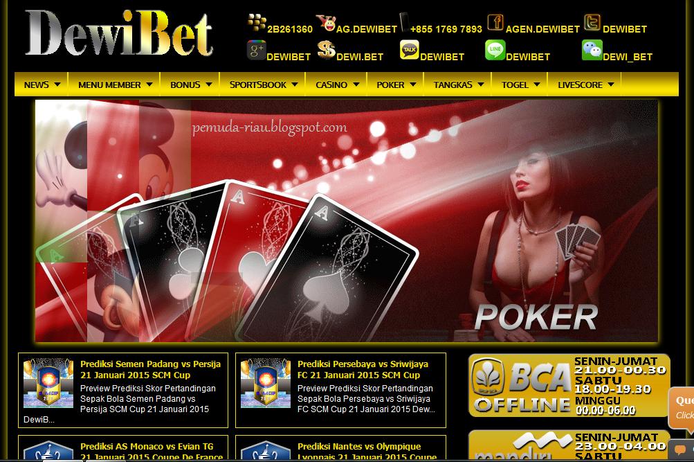Dewibet.Com Agen Judi Terbesar Bandar Taruhan Bola Casino Poker Domino Tangkas Togel Online Terpercaya Indonesia