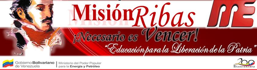 MISIÓN RIBAS MUNICIPIO ROSCIO ESTADO BOLÍVAR VENEZUELA