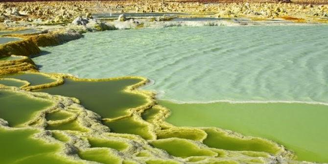 Gurun Danakil - Kawah hijau Dallol