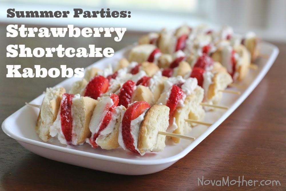 Summer Parties: Strawberry Shortcake Kabobs