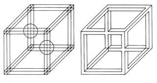Ilusionario el cubo de necker - Figuras geometricas imposibles ...