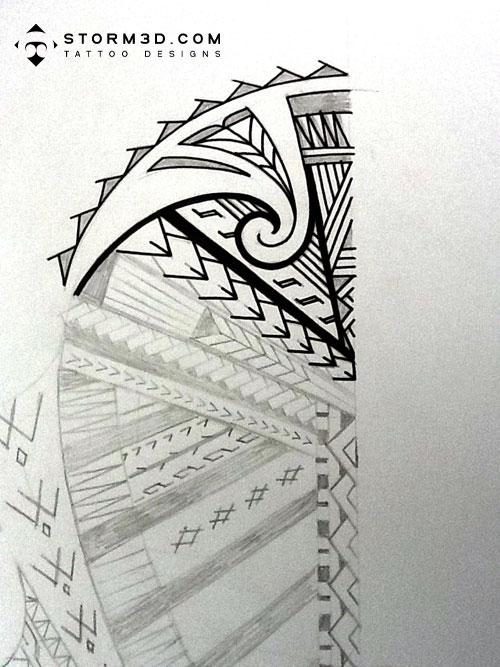 maori inspired tattoo designs and tribal tattoos images samoan inspired shoulder tattoo design. Black Bedroom Furniture Sets. Home Design Ideas