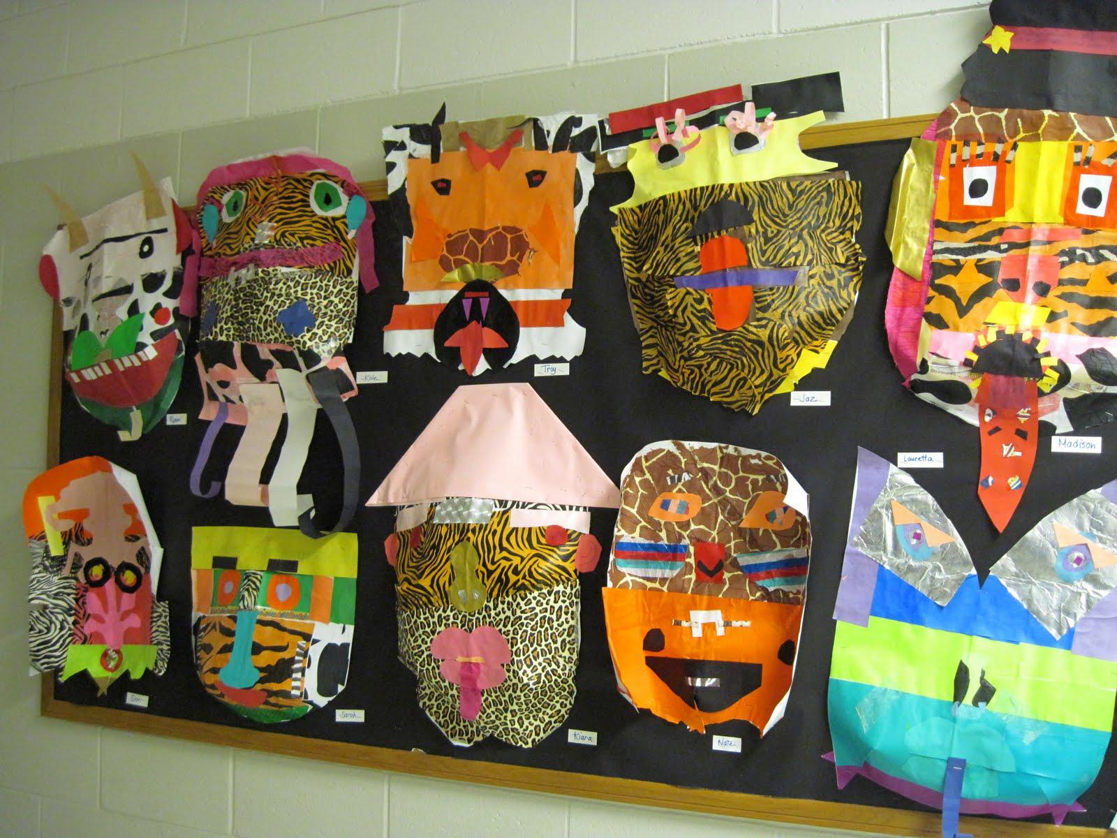 4th Grade Marvelous Masks