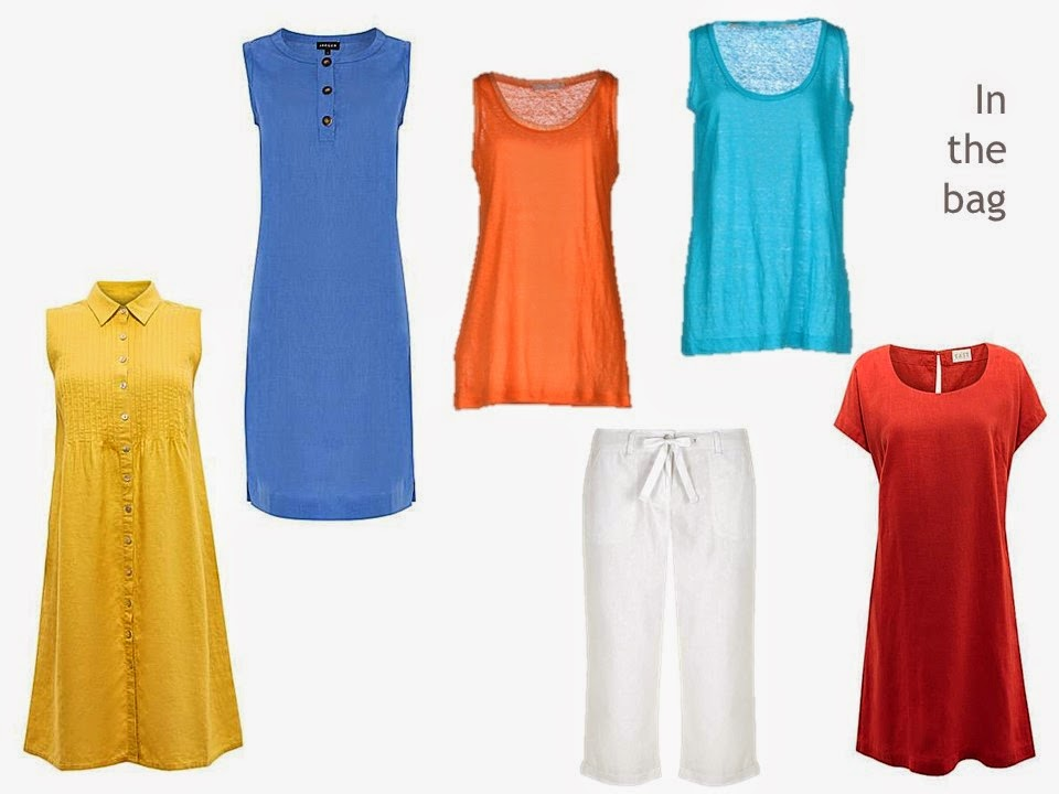 bright linen six piece summer travel wardrobe