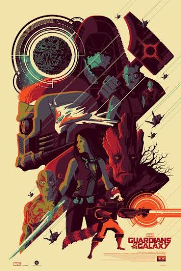 New York Comic Con 2015 Exclusive Guardians of the Galaxy Regular Edition Marvel Screen Print by Tom Whalen & Grey Matter Art