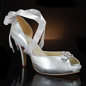 A Wedding Addict Silver Wedding Shoes