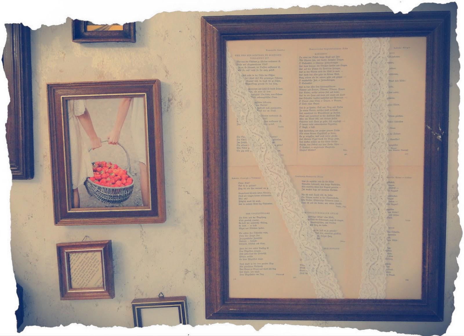 ♥Vergissmeinnicht♥: DIY Bilderrahmen-Wand ♥