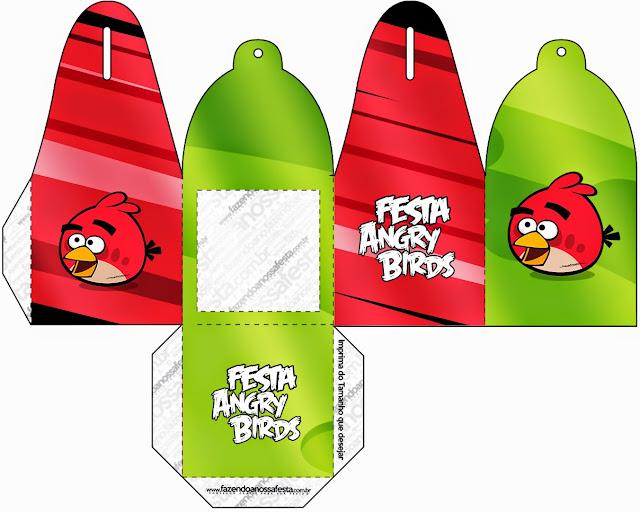 Caja para cupcakes o golosinas de Angry Birds.