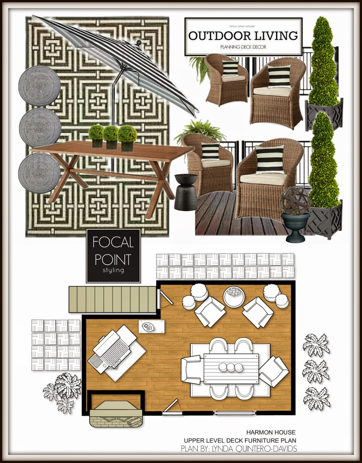 All Three Plans Together   Or Skip The Dimension Plan, And Just Group The  Sample Board With The Furniture Plan.