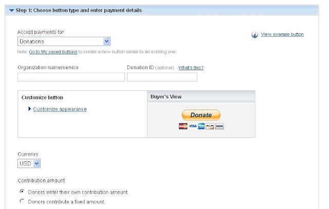 paypal create donate button
