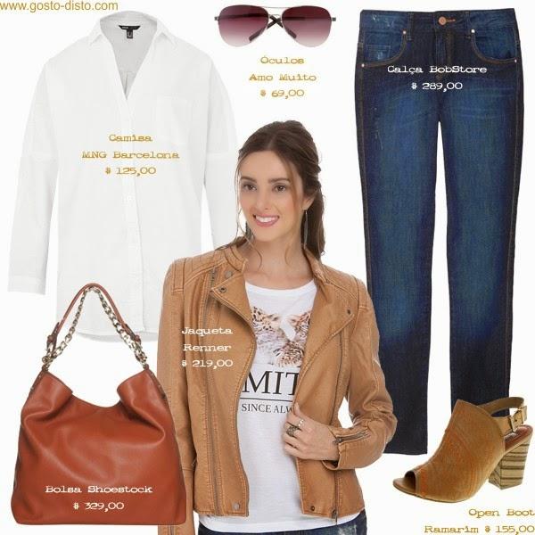 Camisa branca com jeans