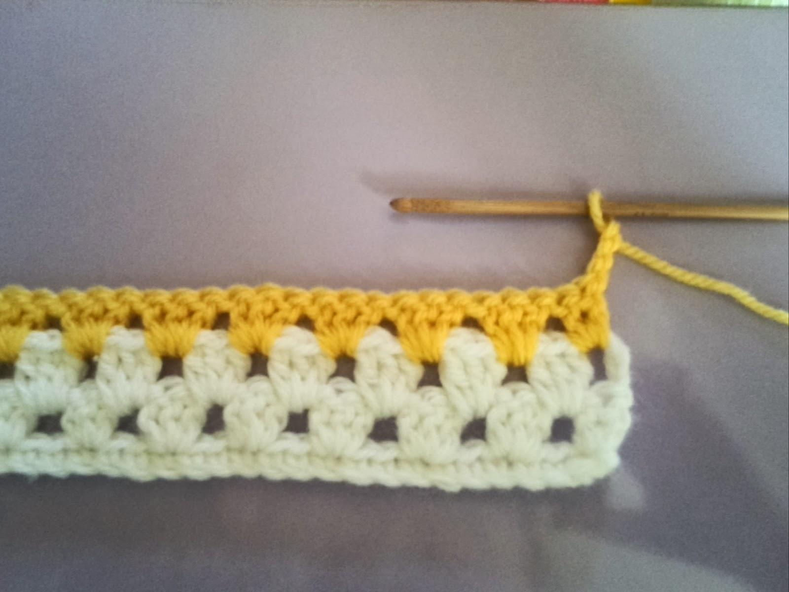 グラニーストライプの編み方