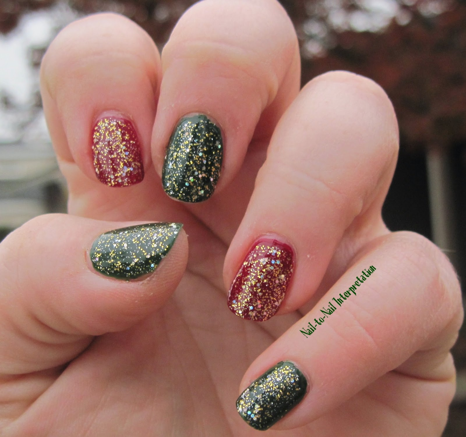 Nail To Nail Interpretations Christmas Is Red And Green To Me