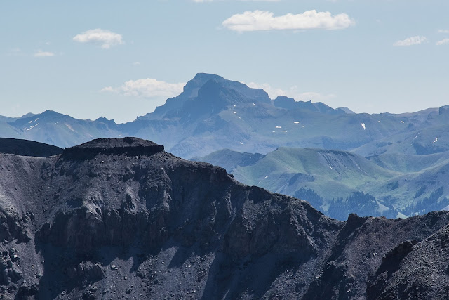 Wetterhorn and Uncompahgre peak from Mt. Sneffels