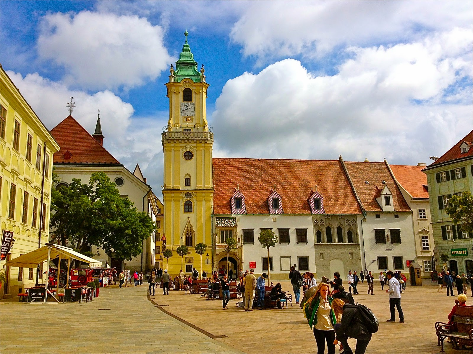 Picture of the Main Square in Bratislava, Slovakia.