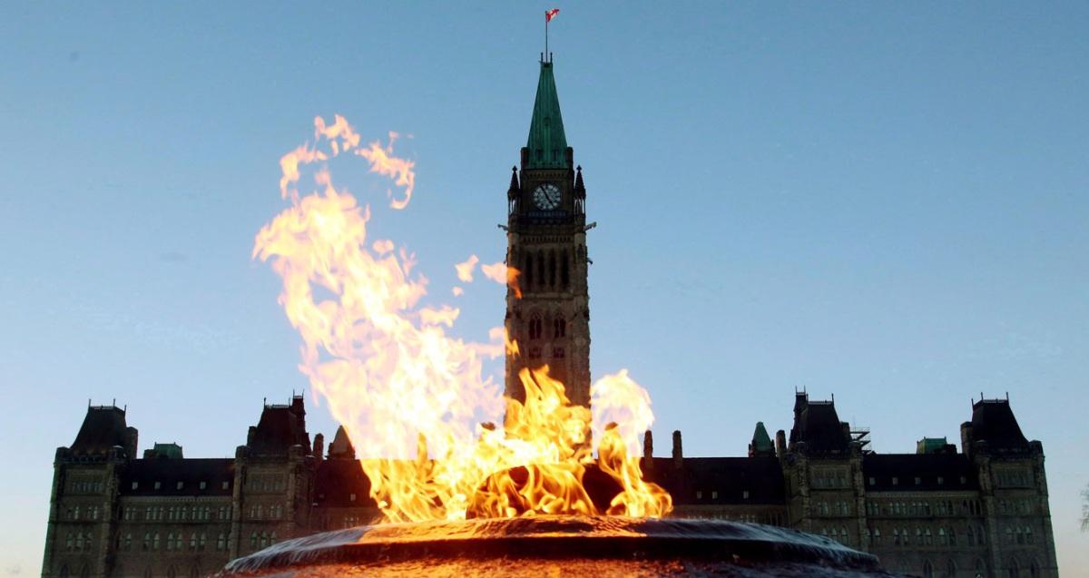 Gas burning in Ottawa.